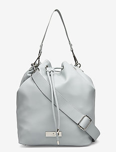 Bag medium - bucket bags - baby blue silver