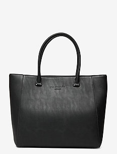 Bag - casual shoppers - black silver