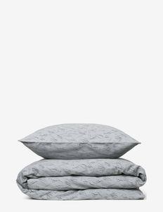 Duvet cover set dk 140*200cm + 60*63cm - literie - charcoal grey w/ dark grey meadow print