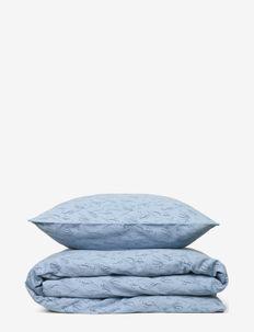 Duvet cover set se 150*210cm + 50*60cm - parures de lit - dusty blue w/ paris blue meadow print