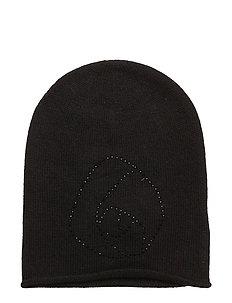 Hat w/rose - BLACK