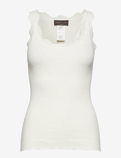 Organic top regular w/ lace - t-shirt & tops - new white