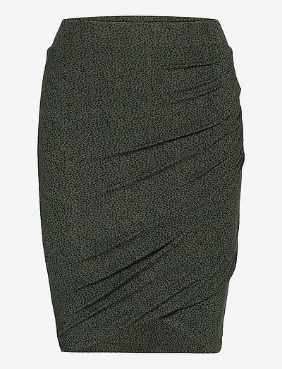 Skirt - midi skjørt - dark pine petit flower print
