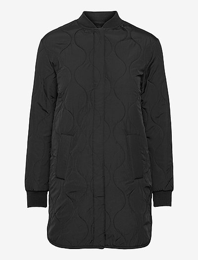 Recycled jacket ls - quilted jakker - black