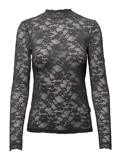 T-shirt regular ls w/lace - EIFFEL TOWER