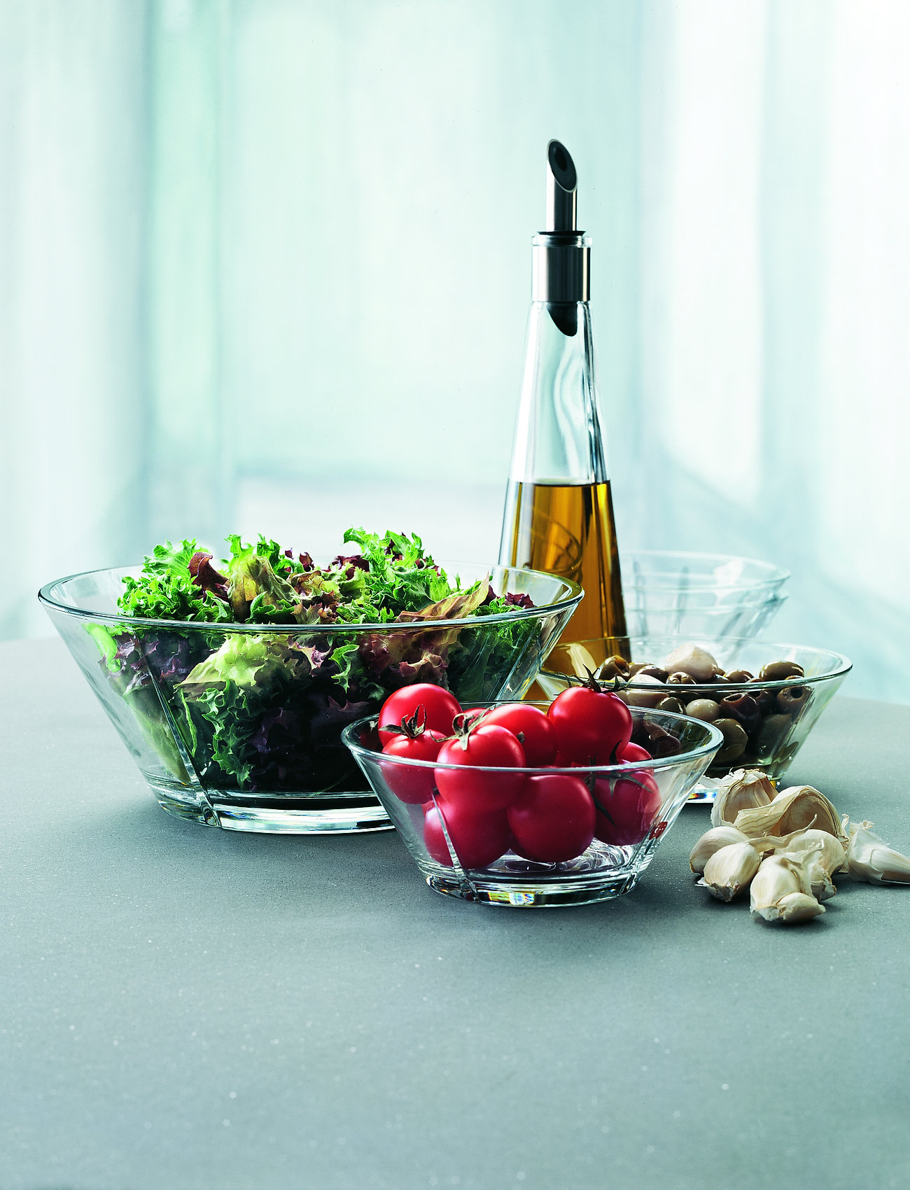 Rosendahl - Grand Cru Glass bowl set, 3 pcs. - kulhot - clear - 1