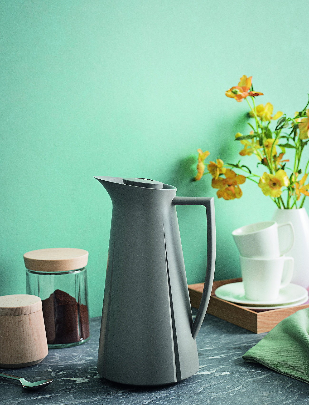 Rosendahl - Grand Crus jug 1,0 l - kannut & karahvit - light grey - 0