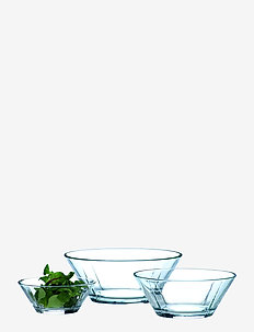 GC Glass bowl set, 3 pcs. clear - skåler - clear