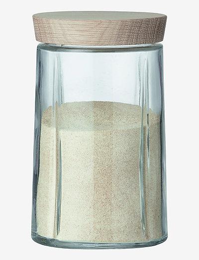 Grand Cru Oppbevaringsglass 1,0 l eik - glasskrukker - oak