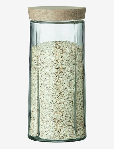 Grand Cru Oppbevaringsglass 1,5 l eik - glasskrukker - oak
