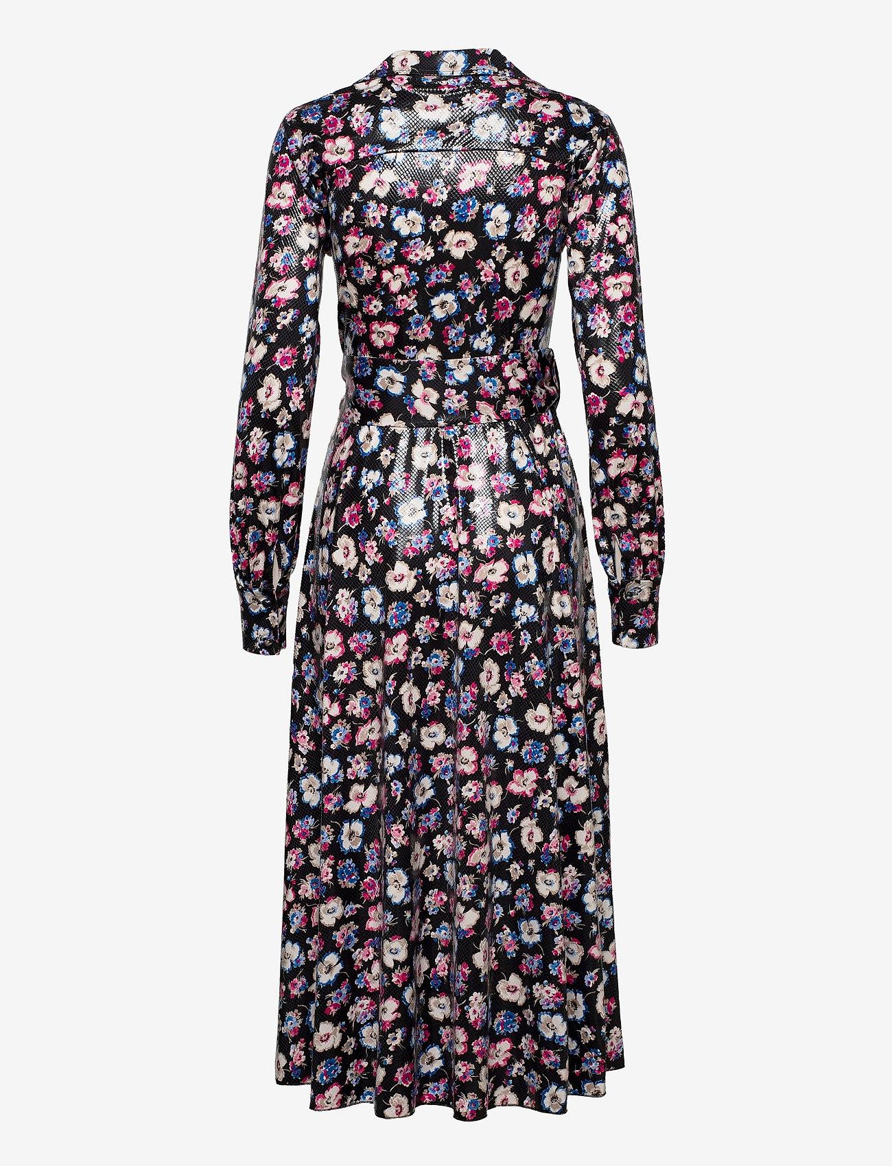 ROTATE Birger Christensen - Jojo Shirtdress - maxi dresses - black combi - 1