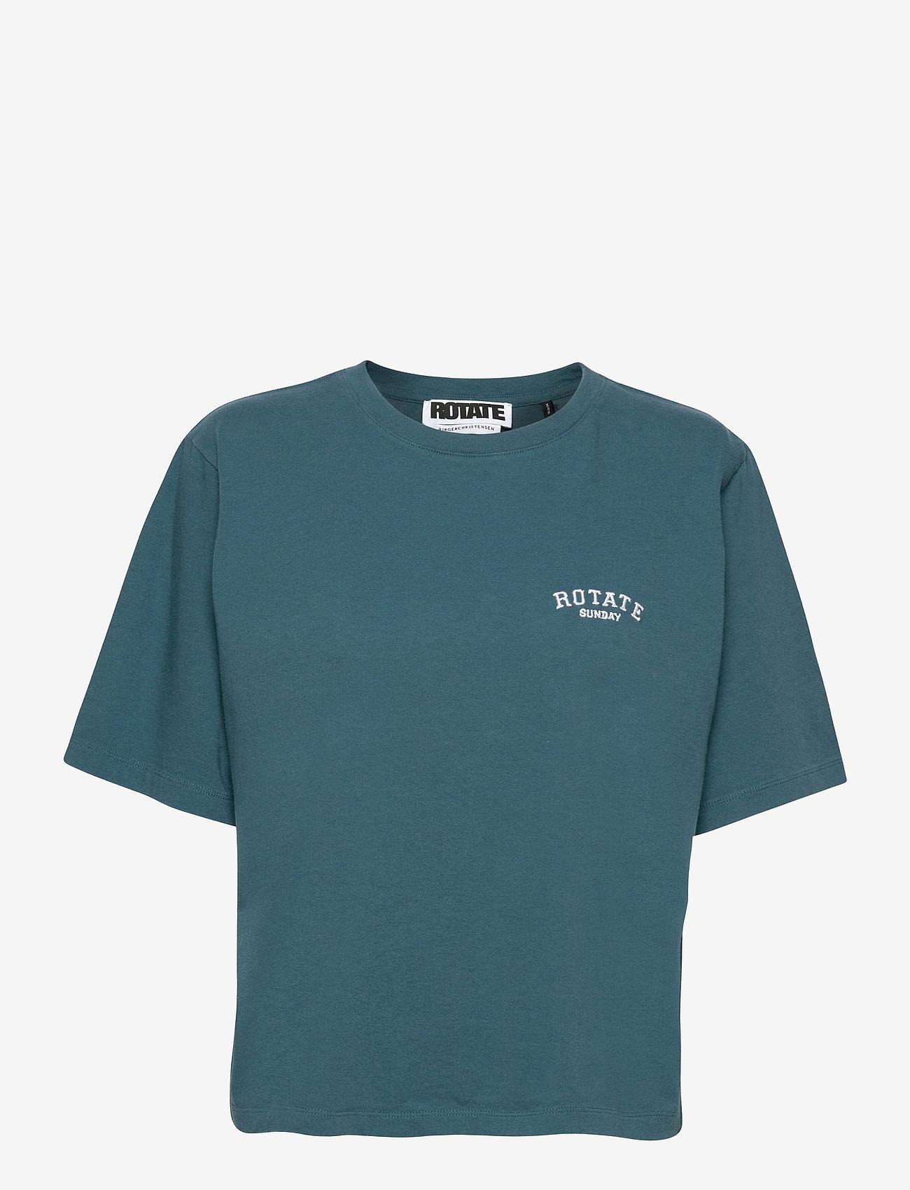 ROTATE Birger Christensen - Aster T-shirt - t-shirts - mallard blue - 1