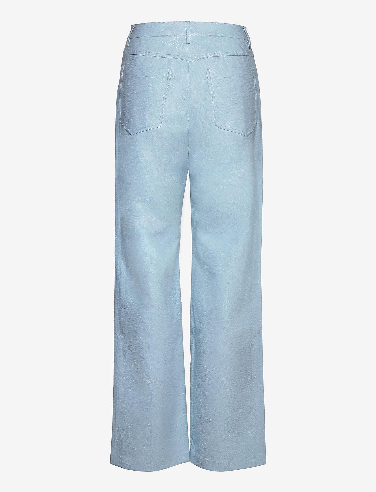 ROTATE Birger Christensen - Rotie Pants - leren broeken - corydalis blue - 1