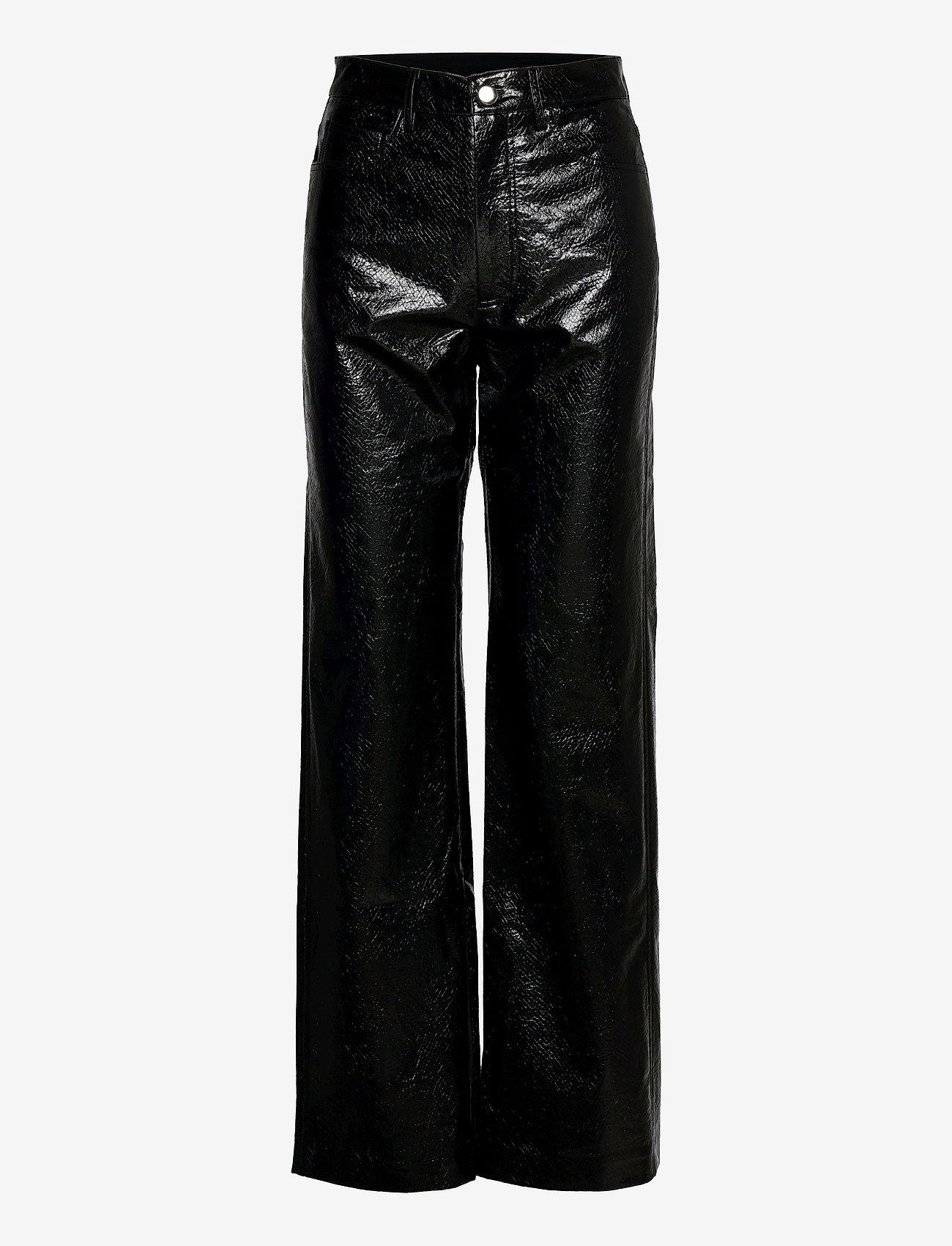 ROTATE Birger Christensen - Rotie Pants - leren broeken - black - 0