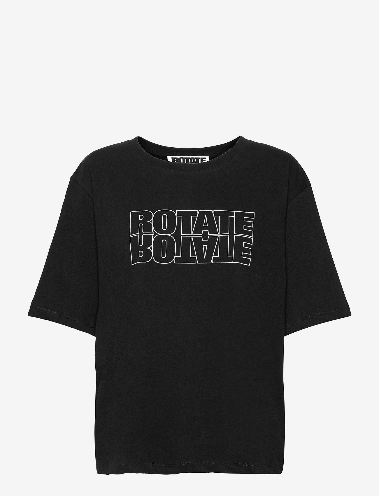 ROTATE Birger Christensen - Aster Tee - t-shirts - black - 0