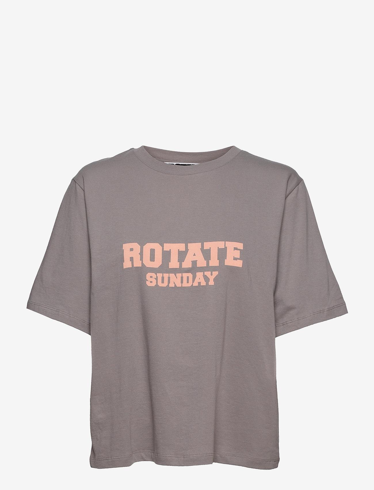 ROTATE Birger Christensen - Aster T-Shirt - t-shirts - cloudburst - 1