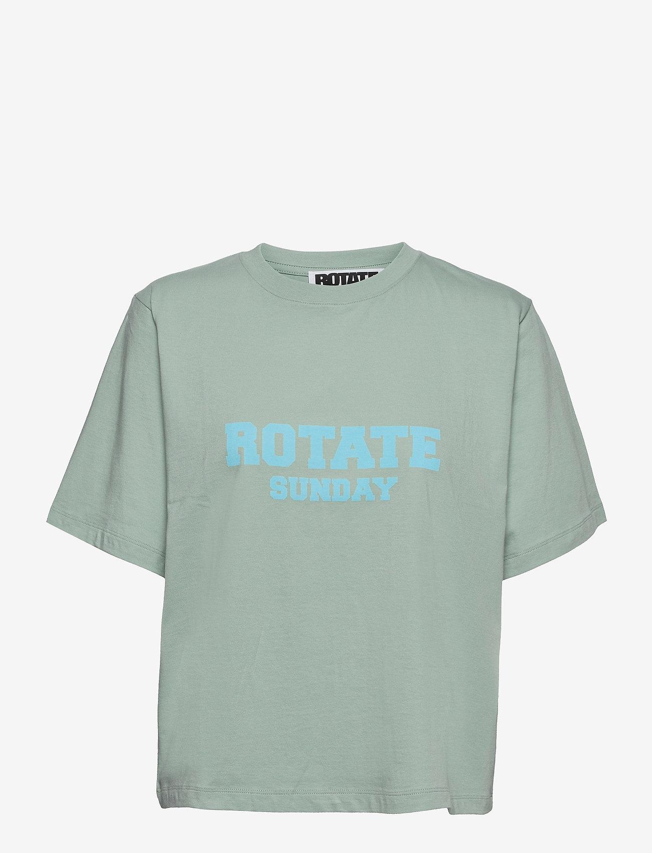 ROTATE Birger Christensen - Aster T-Shirt - t-shirts - blue surf - 1