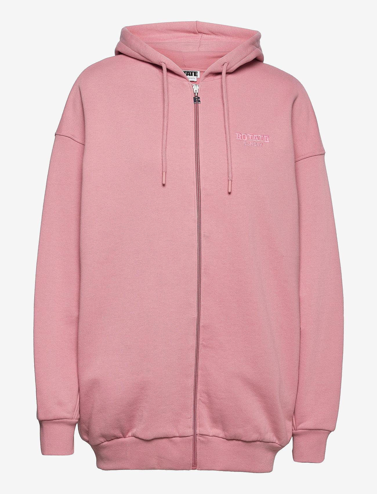 ROTATE Birger Christensen - Selma Hoddie Zip - sweatshirts en hoodies - lilas - 1