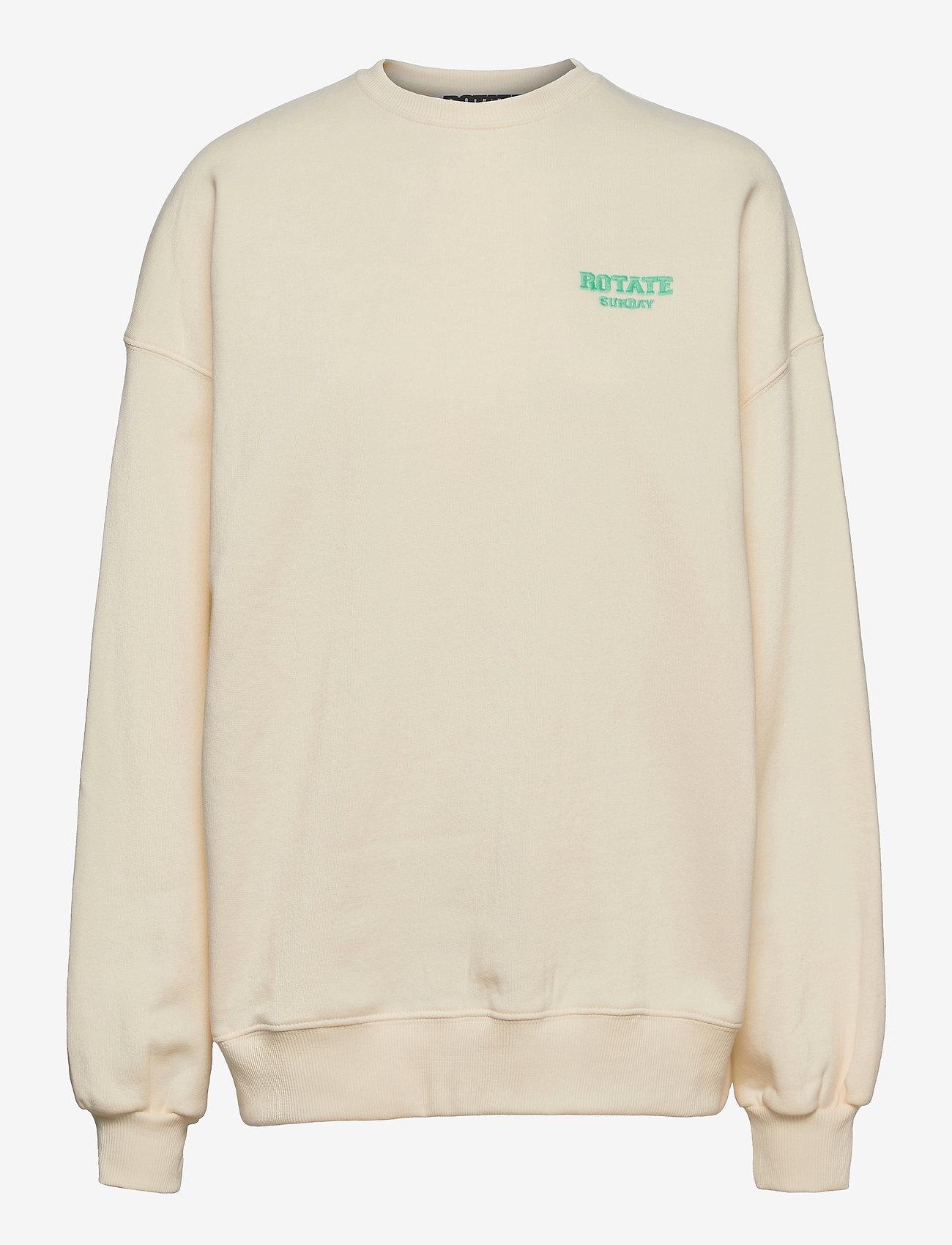 ROTATE Birger Christensen - Iris Crewneck - sweatshirts en hoodies - winter white - 0