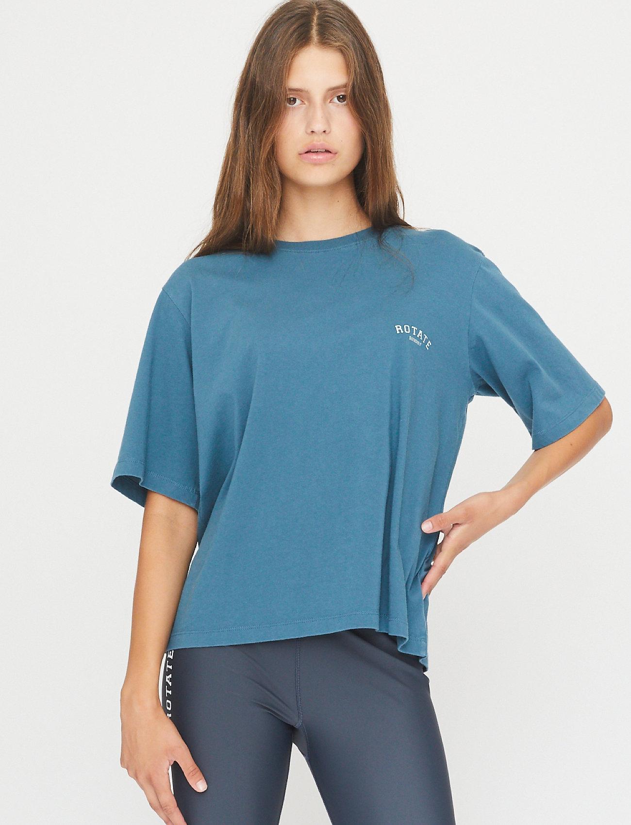 ROTATE Birger Christensen - Aster T-shirt - t-shirts - mallard blue - 0