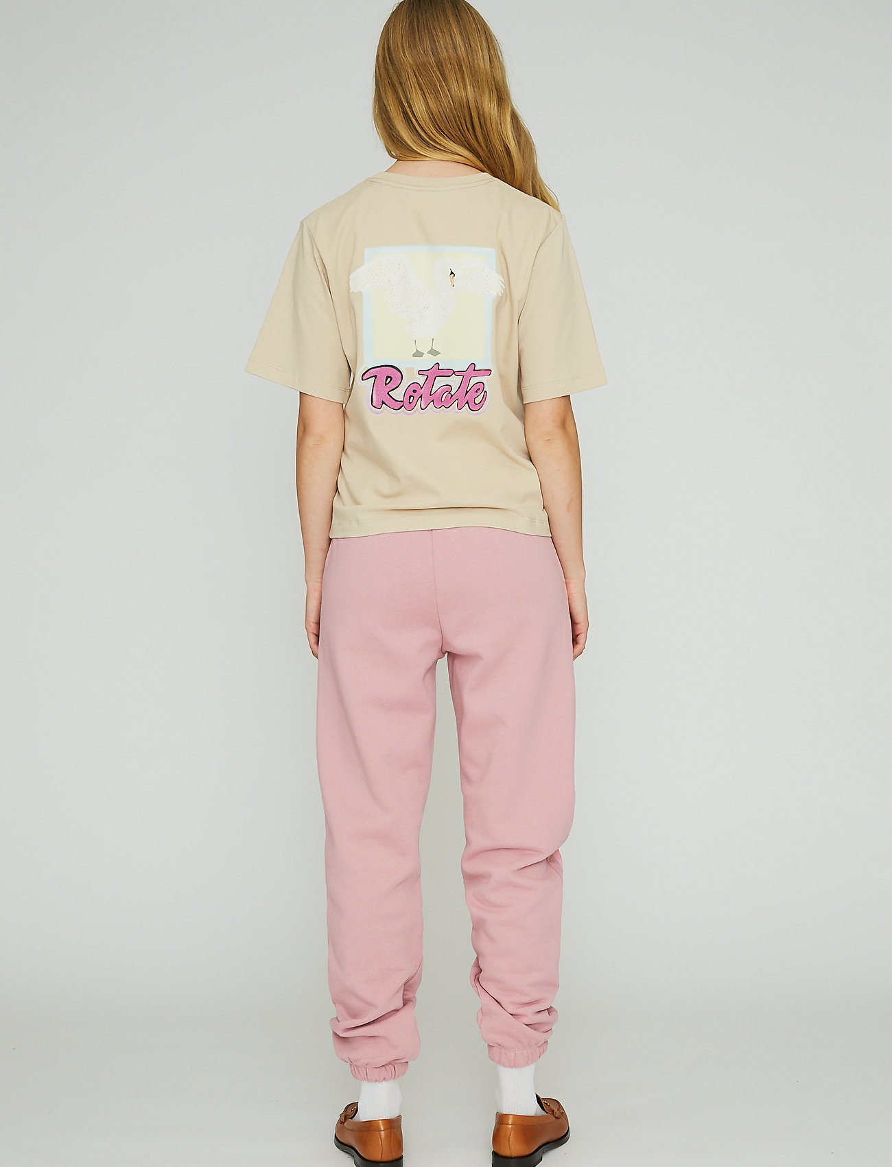 ROTATE Birger Christensen - Mimi Sweatpants Large Print - neue mode - lilas - 3