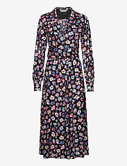 ROTATE Birger Christensen - Jojo Shirtdress - maxi dresses - black combi - 0