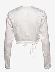 ROTATE Birger Christensen - Jeanette Wrap Top - langærmede bluser - bright white - 1