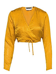 Jeanette Wrap Top - SPICY MUSTARD