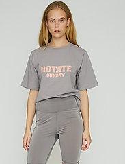 ROTATE Birger Christensen - Aster T-Shirt - t-shirts - cloudburst - 0