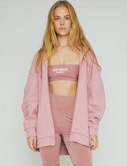 ROTATE Birger Christensen - Selma Hoddie Zip - sweatshirts en hoodies - lilas - 0