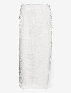 Caitlin Skirt - midi skirts - bright white