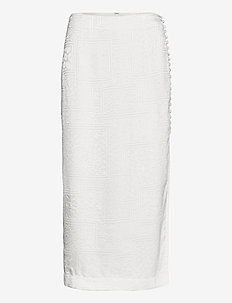 Caitlin Skirt - jupes midi - bright white