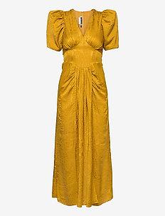 Alma Dress - zomerjurken - spicy mustard