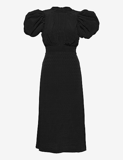 Dawn Dress - midi dresses - black