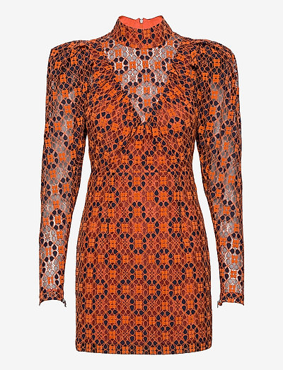 Ida Dress - robes de dentelle - mandarin orange