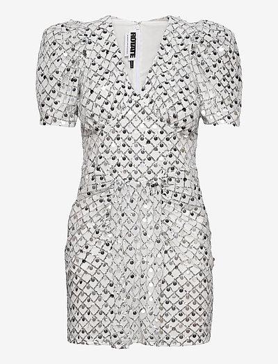 Alma Short Dress - paillettenkleider - silver