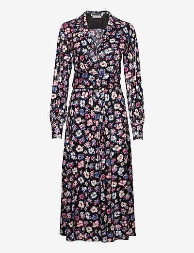 Jojo Shirtdress - maxi dresses - black combi