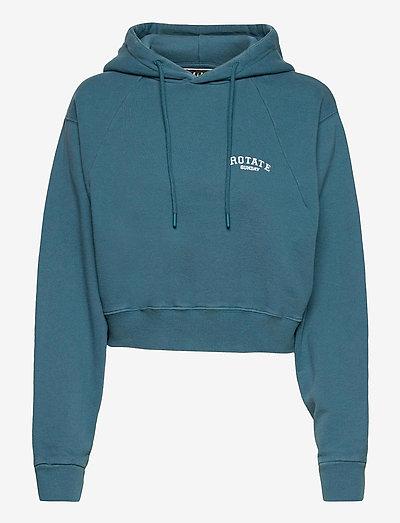 Viola Hoodie - sweatshirts en hoodies - mallard blue