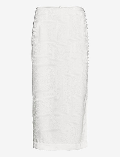 Caitlin Skirt - jupes midi - bright white