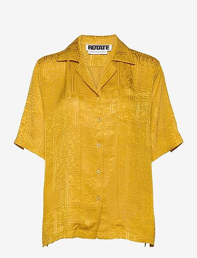 Avery Shirt - kurzärmlige hemden - spicy mustard