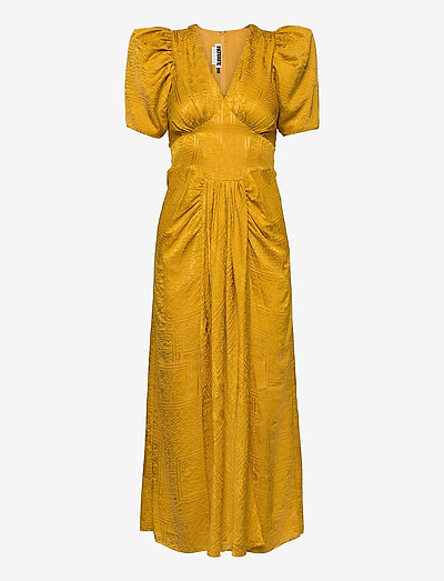 Alma Dress - robes d'été - spicy mustard