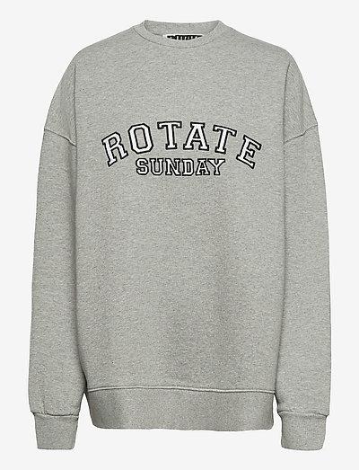 Iris Crewneck - sweatshirts & hættetrøjer - grey melange