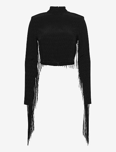 Reba Fringe Top - bluzki z długimi rękawami - black