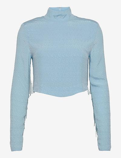 Reba Fringe Top - t-shirt & tops - baltic sea
