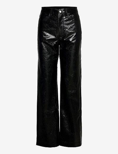 Rotie Pants - leren broeken - black