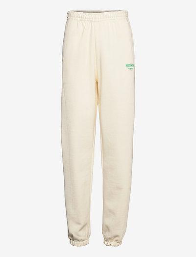 Mimi Sweatpants Small Print - klær - winter white