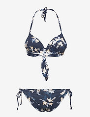 Roxy - VALUE LINE MOLD TRI SET - komplety bikini - mood indigo s aqua ditsy - 1