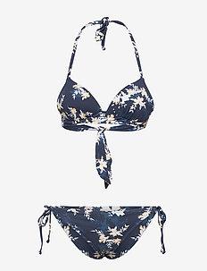 VALUE LINE MOLD TRI SET - bikini-sett - mood indigo s aqua ditsy