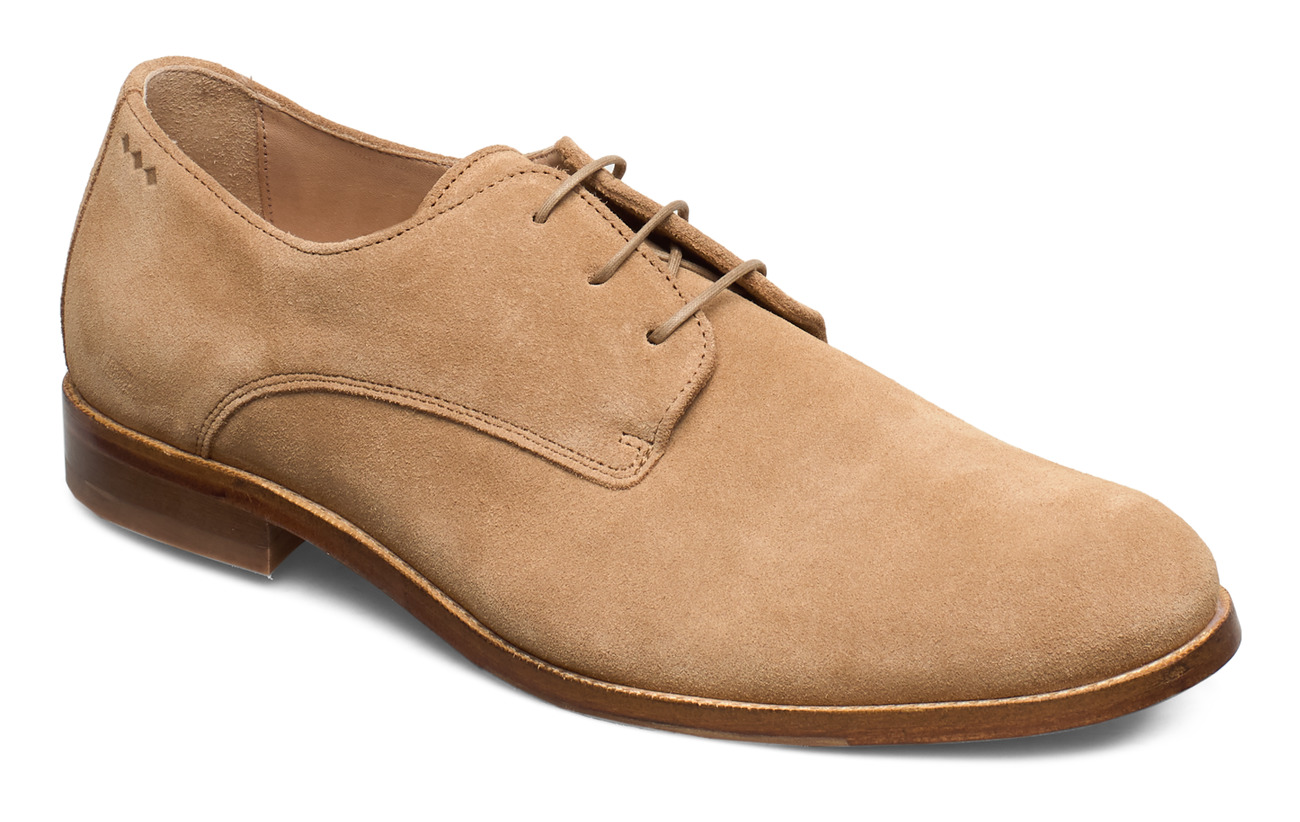 Royal RepubliQ Alias Classic Suede Derby Shoe - CAMEL