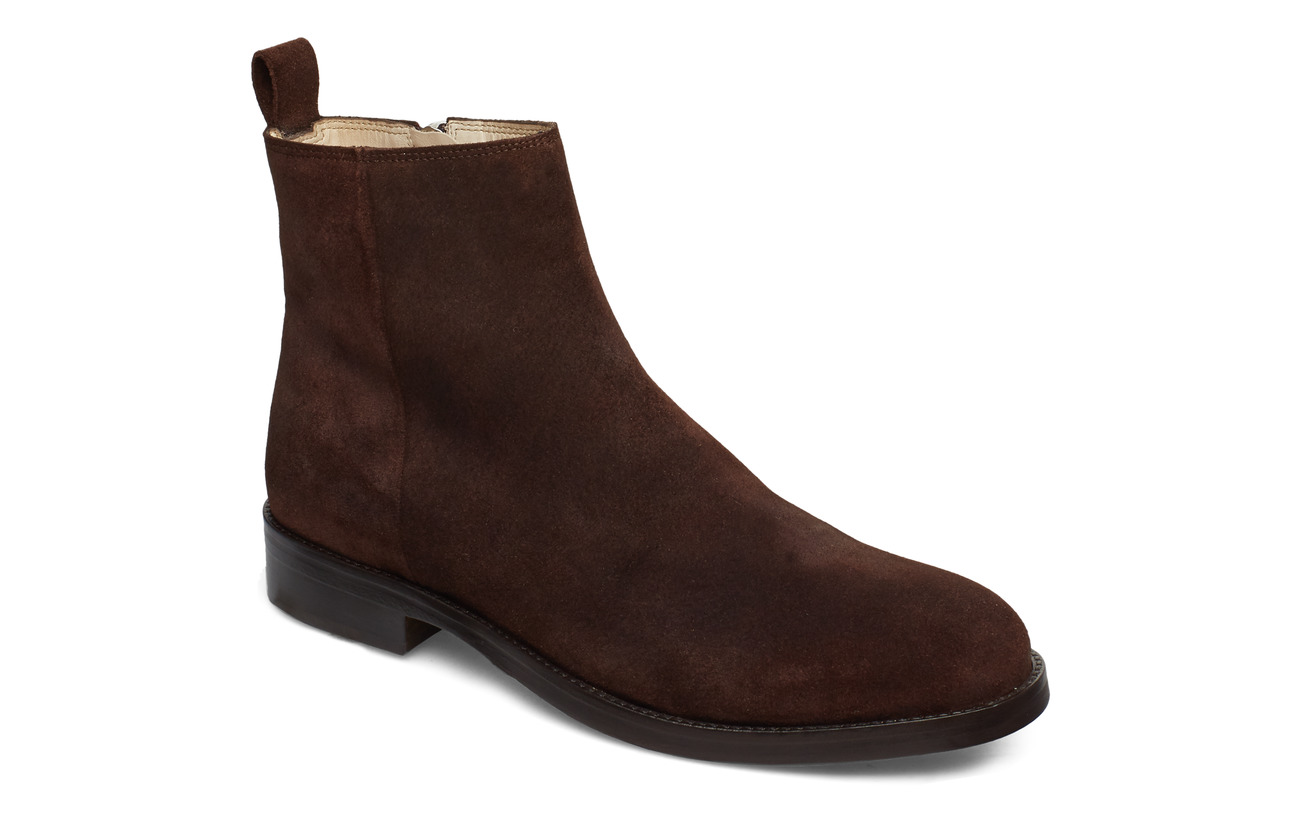 Royal RepubliQ Bond Ankle Boot Suede - COFFEE